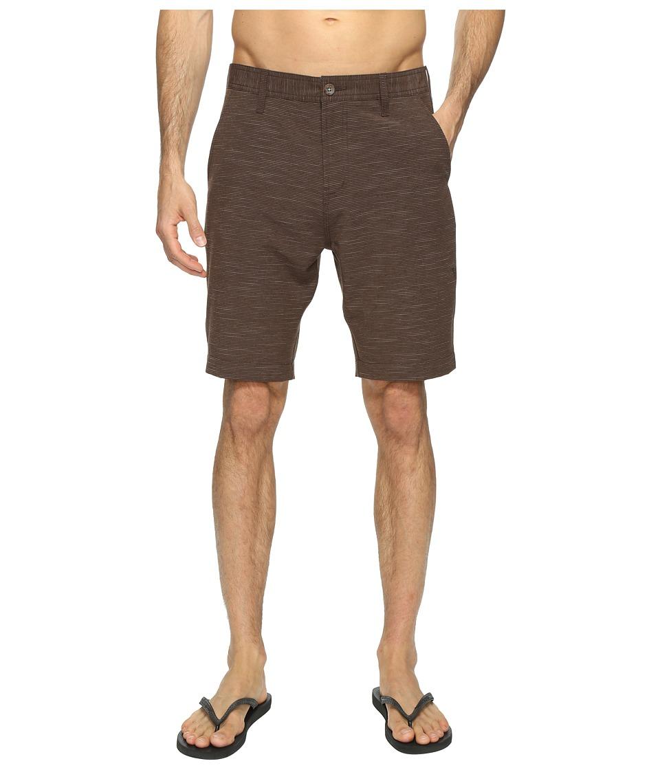 VISSLA - Vibrations Four-Way Stretch Striped Hybrid Walkshorts 20 (Java) Men's Shorts