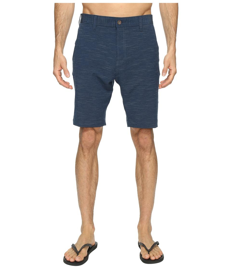 VISSLA - Vibrations Four-Way Stretch Striped Hybrid Walkshorts 20 (Dark Navy) Men's Shorts