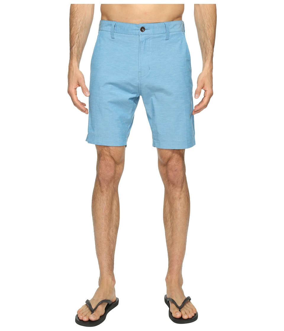VISSLA - Four Doors Four-Way Stretch Heathered Hybrid Walkshorts 19 (Blue Velvet) Men's Shorts