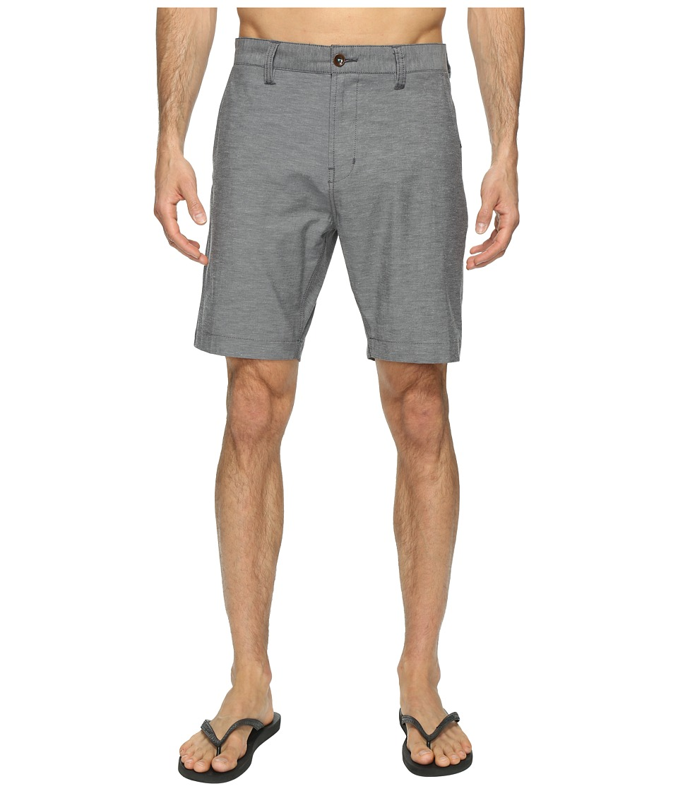 VISSLA - Four Doors Four-Way Stretch Heathered Hybrid Walkshorts 19 (Black) Men's Shorts