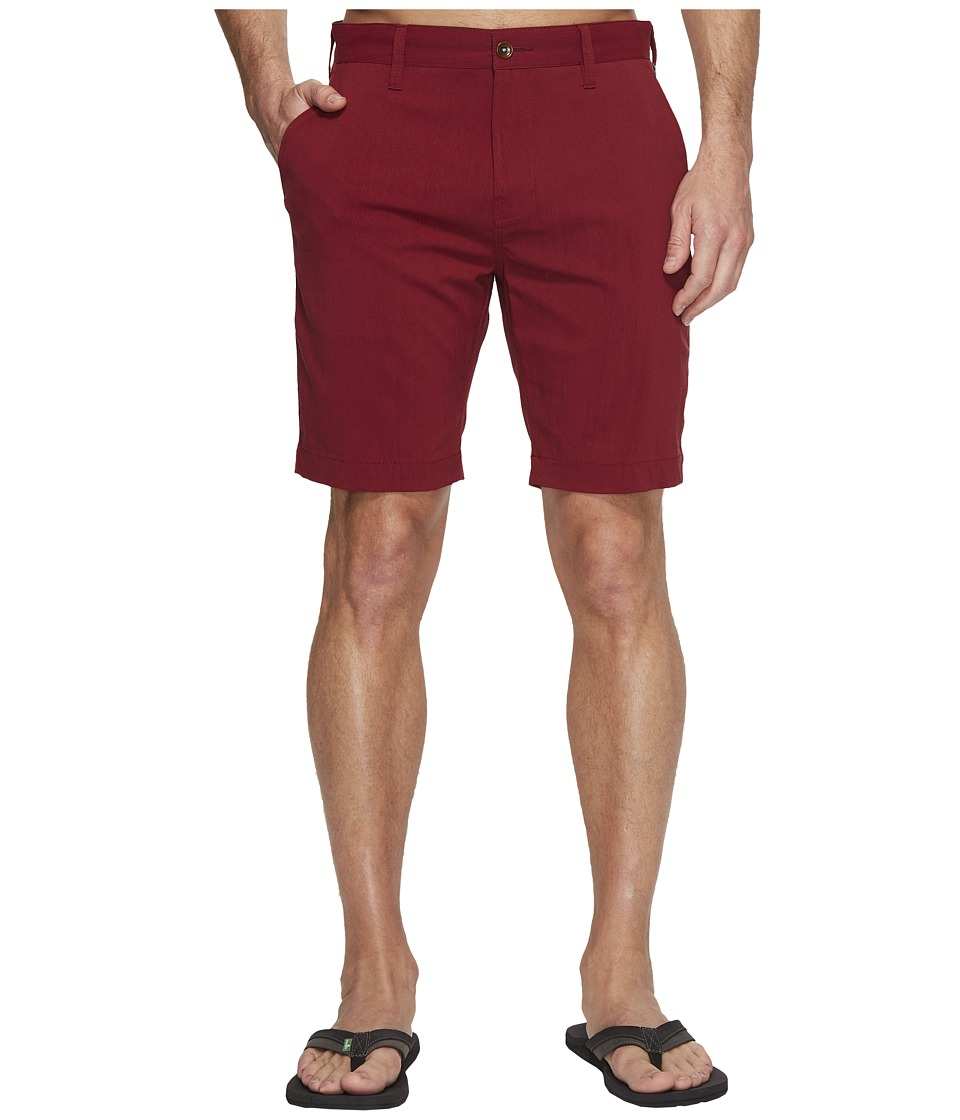 VISSLA - Otto Four-Way Stretch Hybrid Walkshorts 20 (Pomegranate Red) Men's Shorts