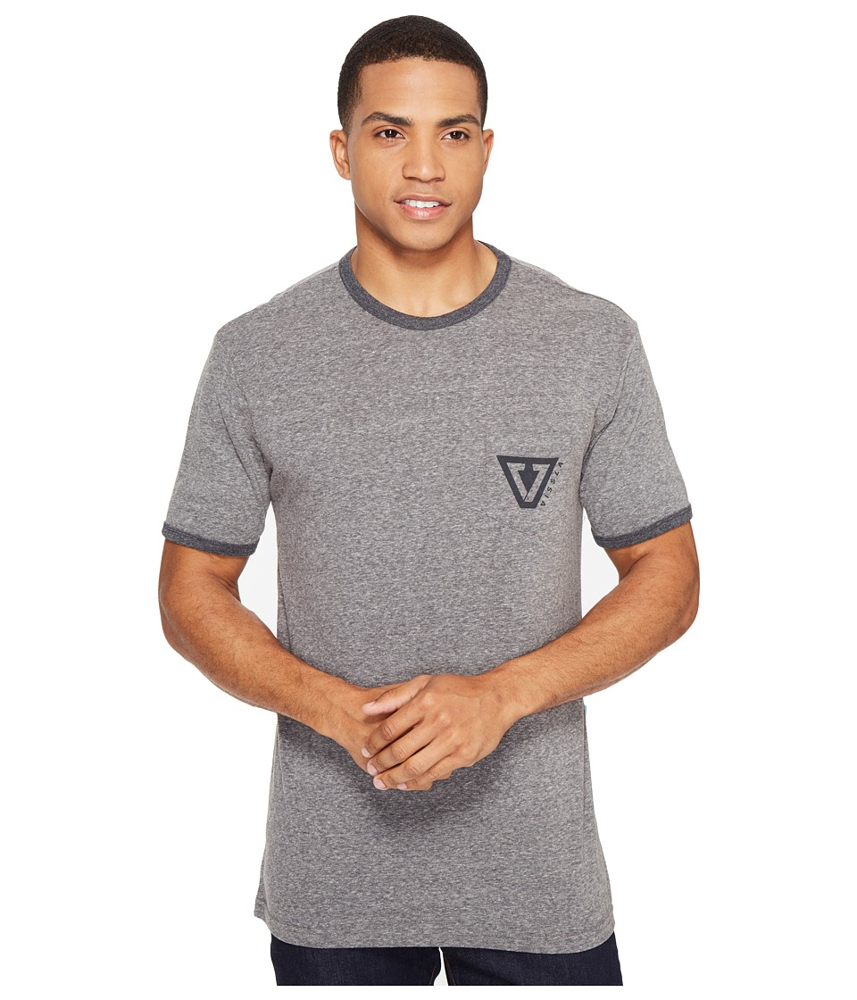 VISSLA - Established Ringer Tri-Blend Tee (Dark Grey Heather) Men's T Shirt