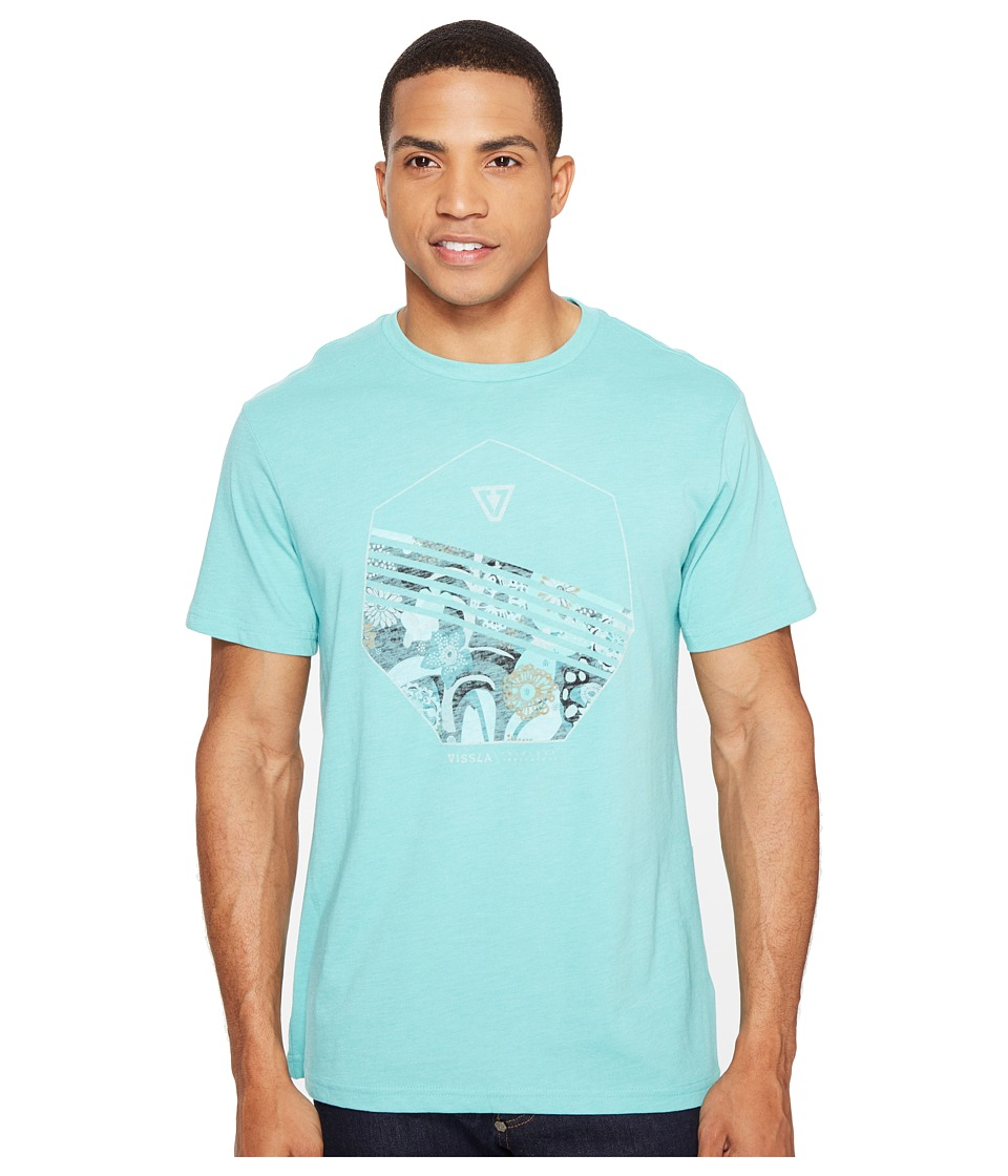 VISSLA - Shark Alley Everyday Heathered Tee (Jade Heather) Men's T Shirt