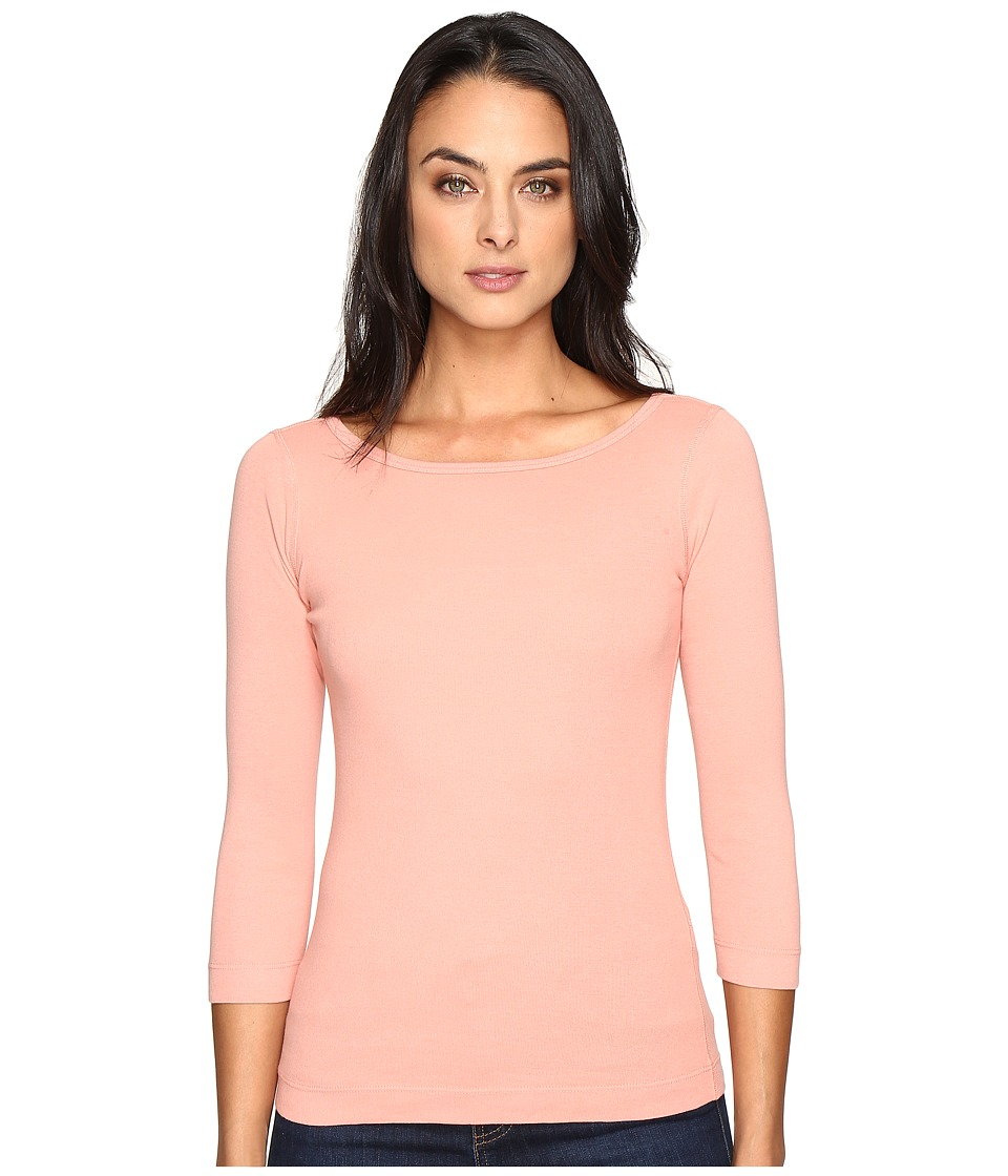 Three Dots - 3/4 Sleeve British Tee (Winter Rose) Women's Long Sleeve Pullover