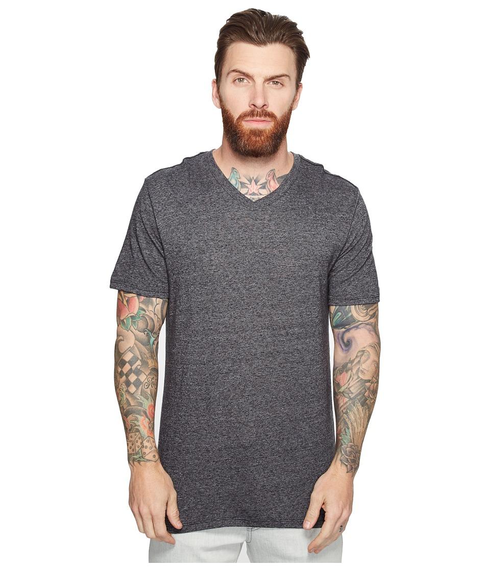 Hurley - Staple Tri-Blend V-Neck Tee (Black) Men's T Shirt