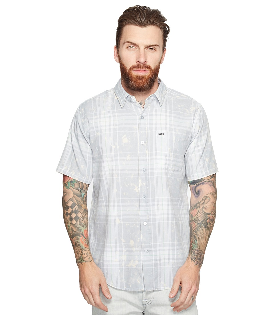 Hurley - Archer Short Sleeve Woven (Wolf Grey) Men's Clothing