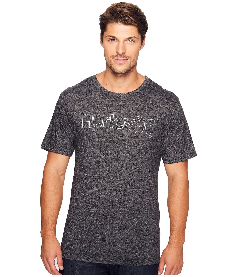 Hurley - One Only Outline Tri-Blend Tee (Black) Men's T Shirt
