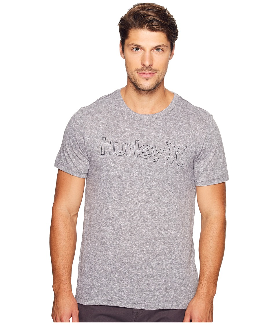 Hurley - One Only Outline Tri-Blend Tee (Cool Grey) Men's T Shirt