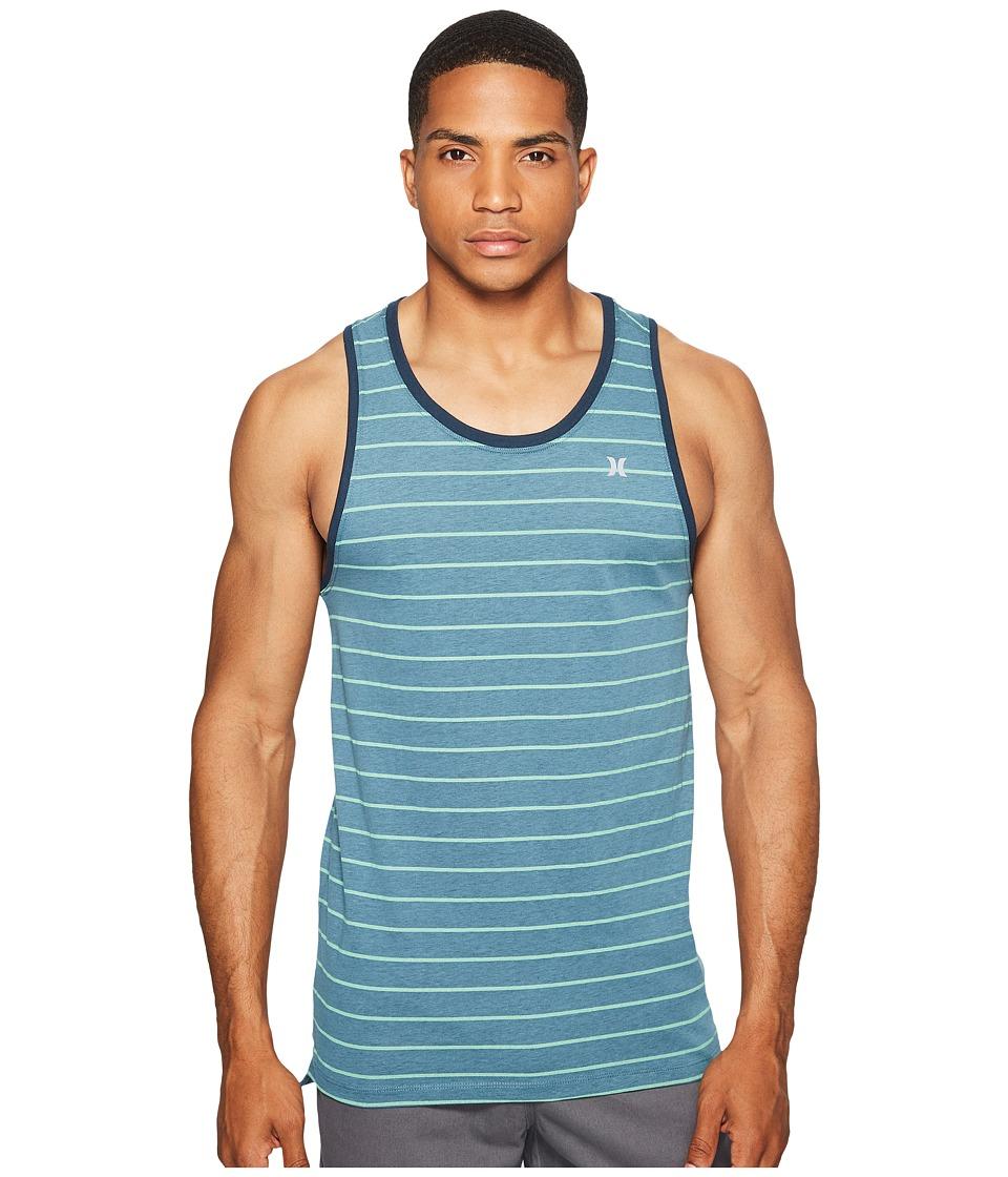 Hurley - Dri-Fit Lagos Tank Top (Smokey Blue Heather) Men's Sleeveless