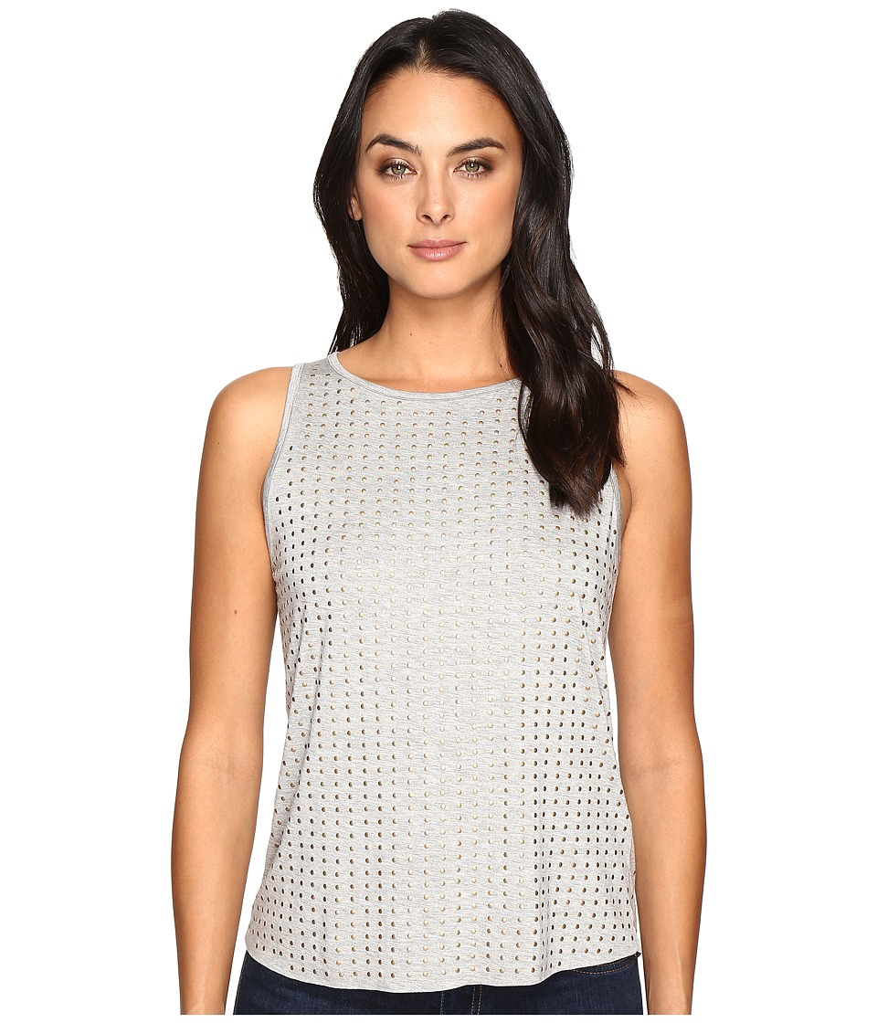 Three Dots - Studded Tank Top (Granite) Women's Clothing