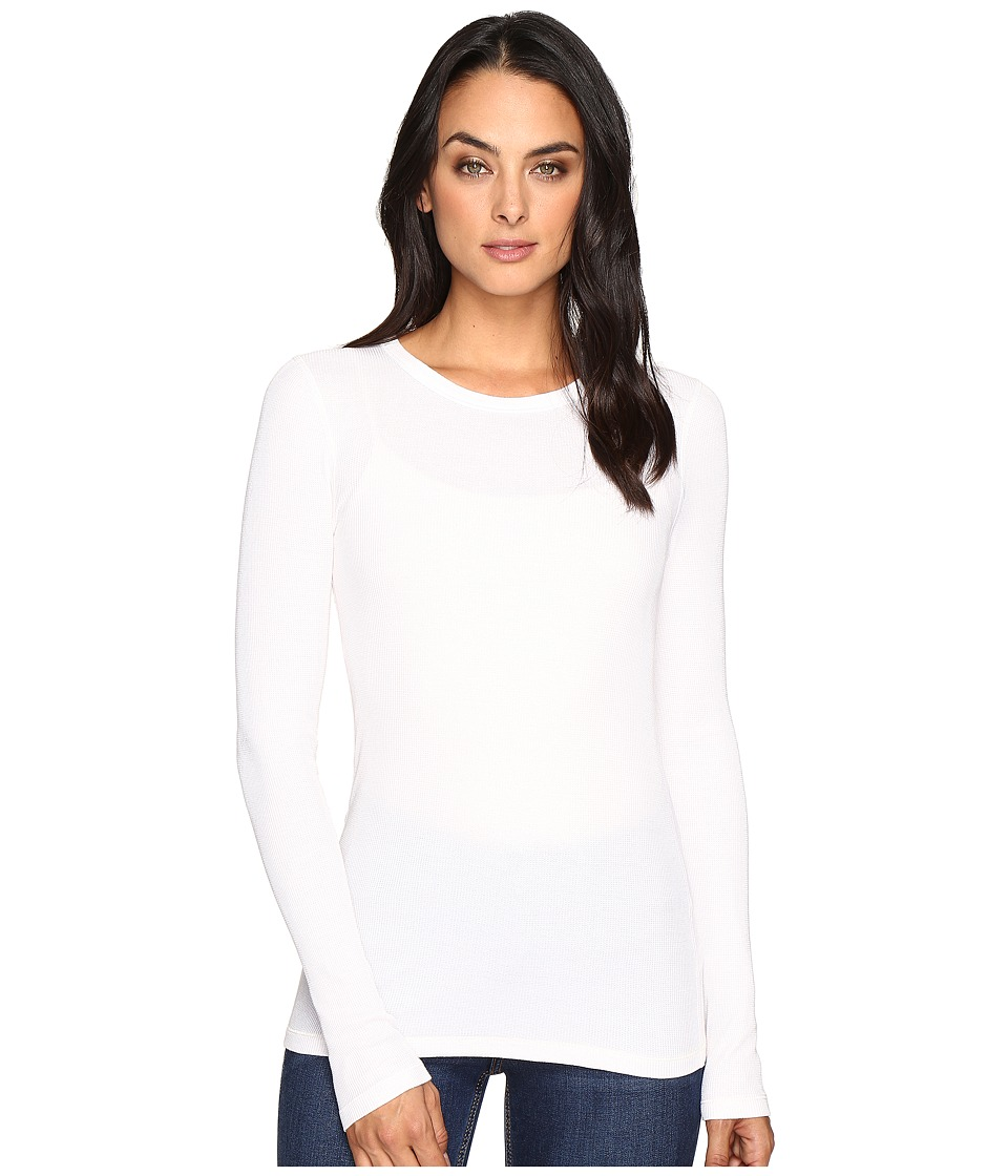 Three Dots - Long Sleeve Crew Neck (Gardenia) Women's Clothing