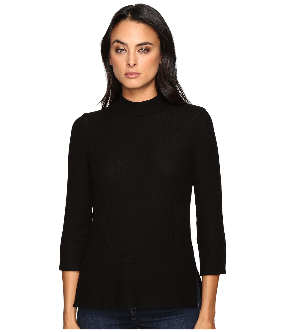 Three Dots - Boxy Turtleneck (Black) Women's Clothing
