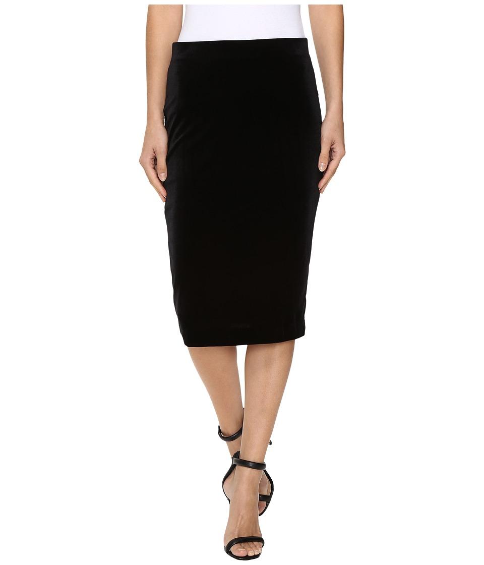 Three Dots - Velvet Skirt (Black) Women's Skirt