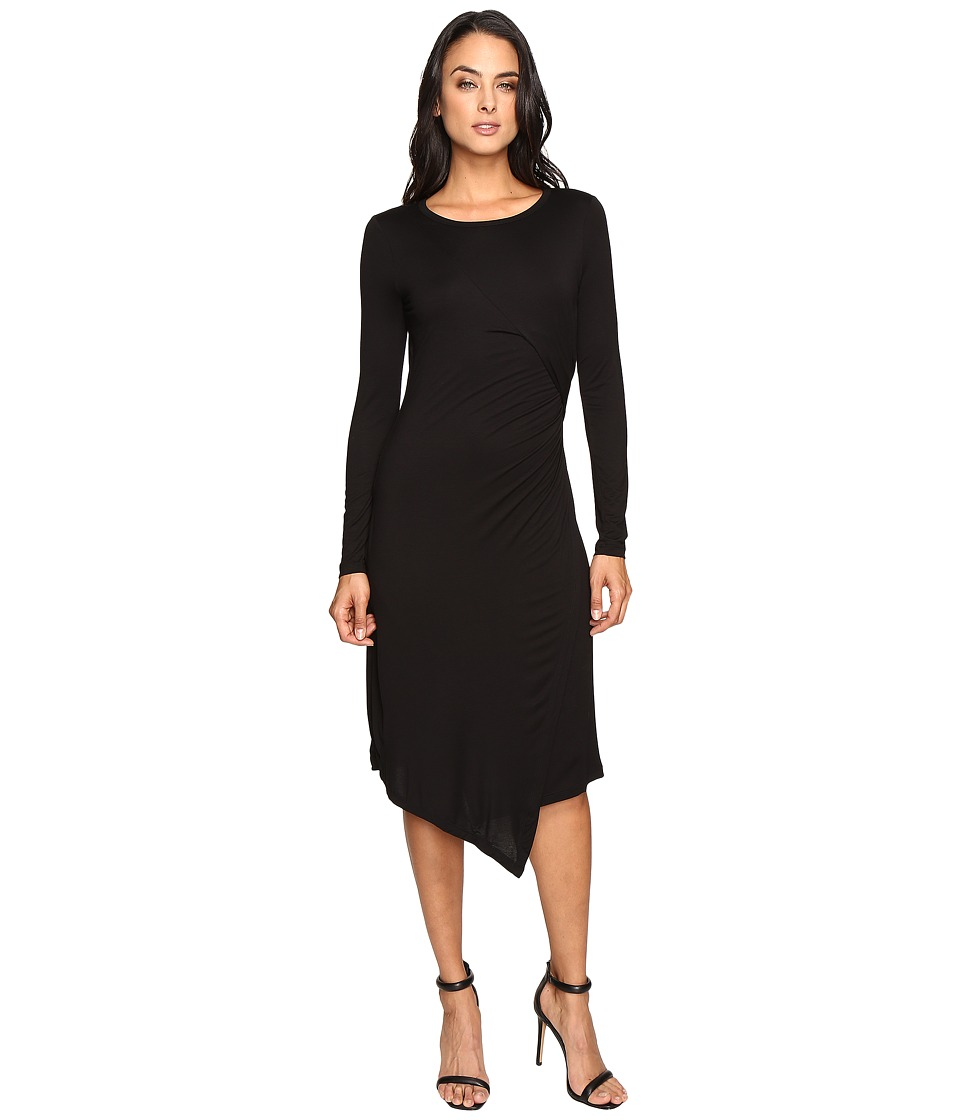 Three Dots - Draped Dress (Black) Women's Clothing