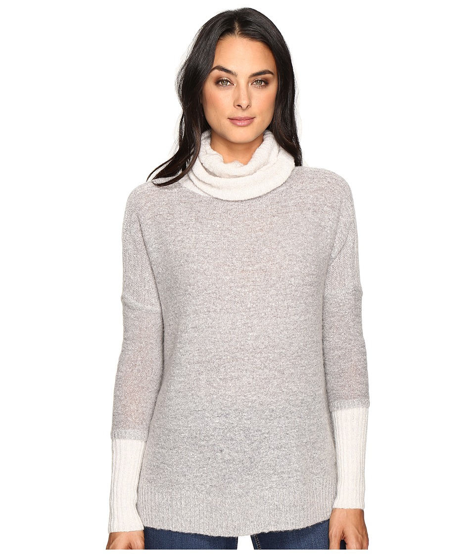 Three Dots - Faux Double Sweater (Granite Combo) Women's Clothing