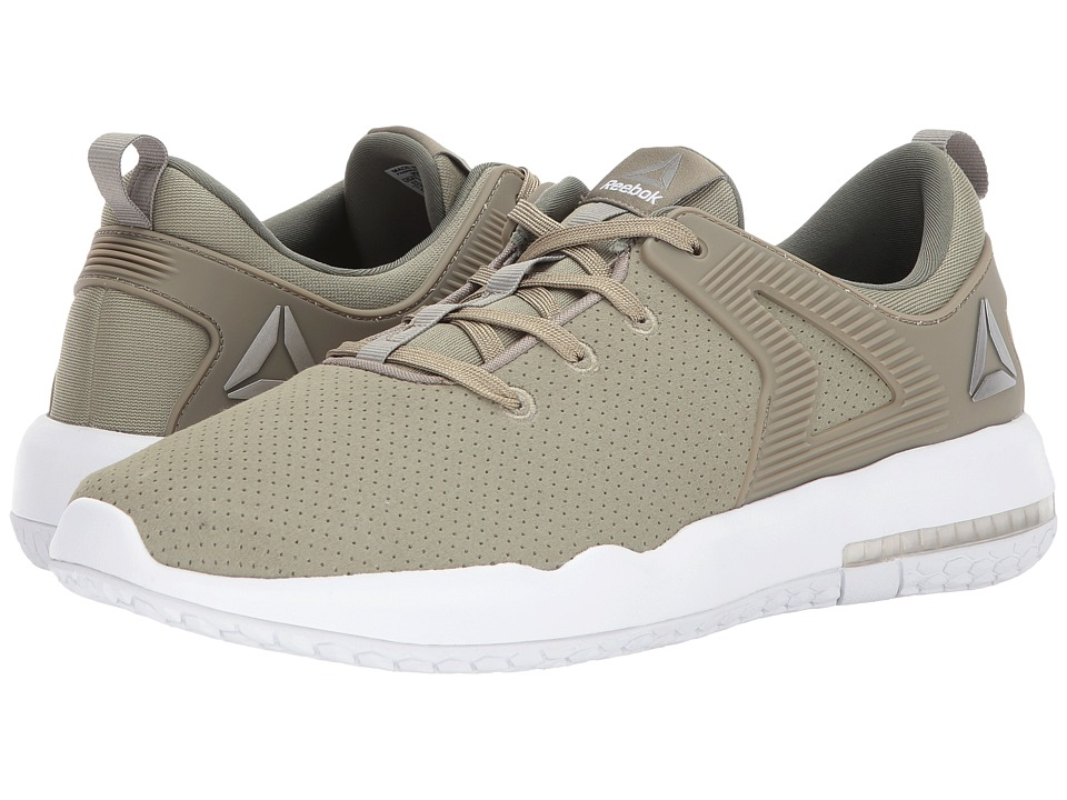 Reebok - Hexalite X Glide (Khaki/White/Pewter/Hunter Green) Men's Running Shoes