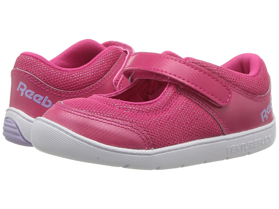 Reebok Kids Ventureflex Mary Jane II (Toddler) (Pink Craze/White/Lavender/Gold Metallic) Girls Shoes
