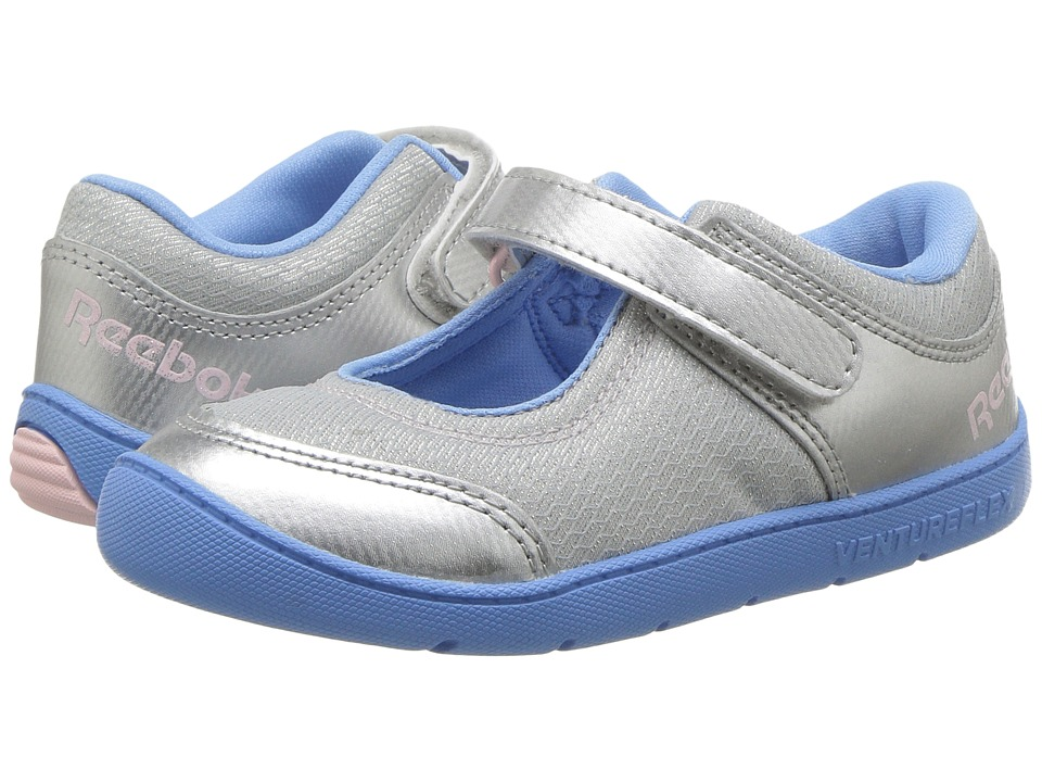 Reebok Kids - Ventureflex Mary Jane II (Toddler) (Silver Metallic/Sky Blue/Luster Pink/White) Girls Shoes