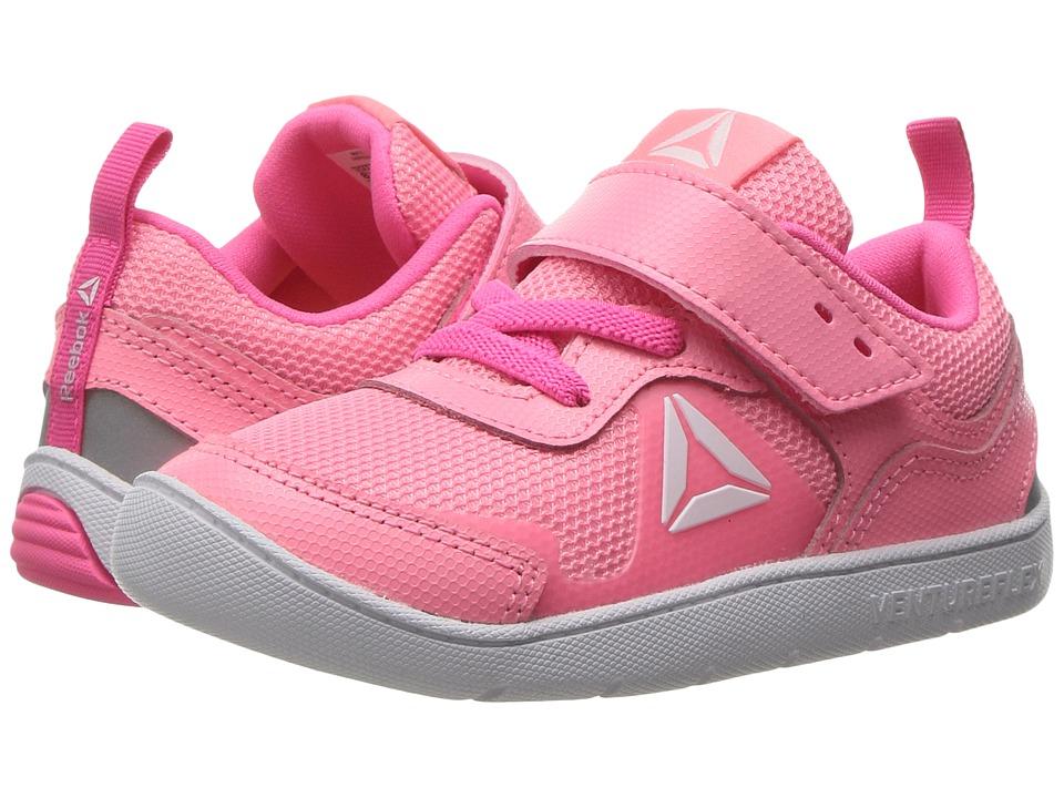 Reebok Kids - Ventureflex Stride 5.0 (Toddler) (Peppy Pink/Solar Pink/White) Girls Shoes