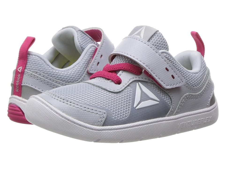 Reebok Kids - Ventureflex Stride 5.0 (Toddler) (Cloud Grey/Pink Craze/White) Girls Shoes