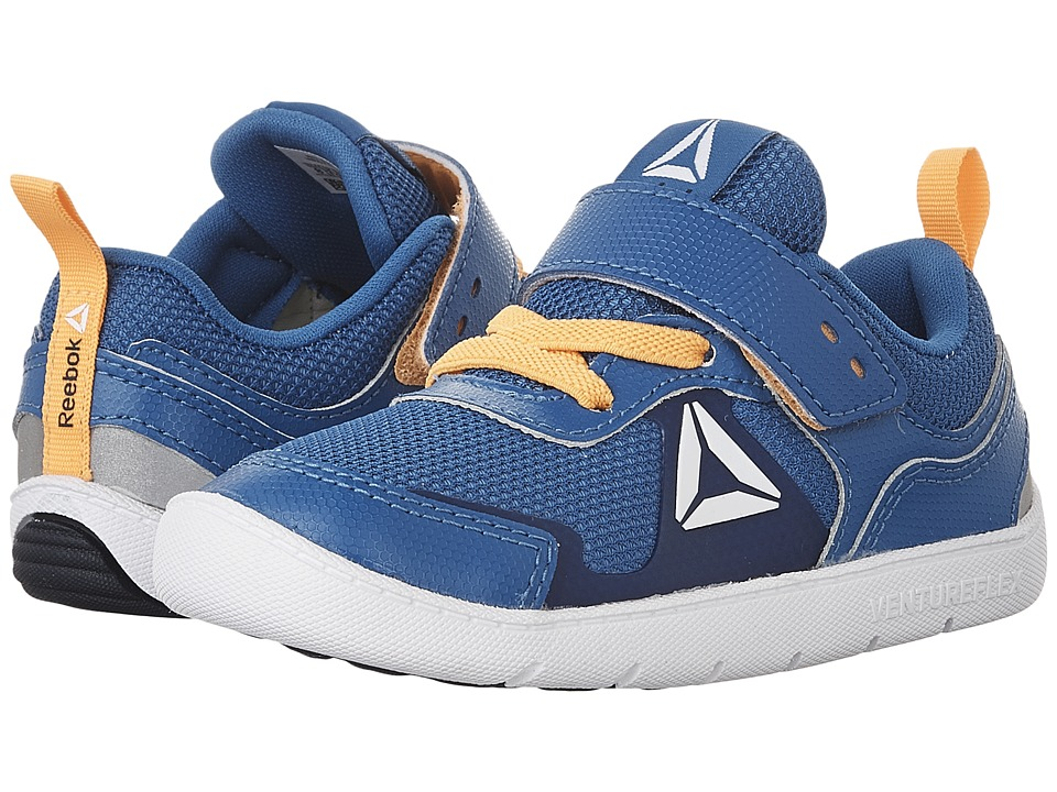 Reebok Kids - Ventureflex Stride 5.0 (Toddler) (Awesome Blue/Fire Spark/Collegiate Navy/White) Boys Shoes