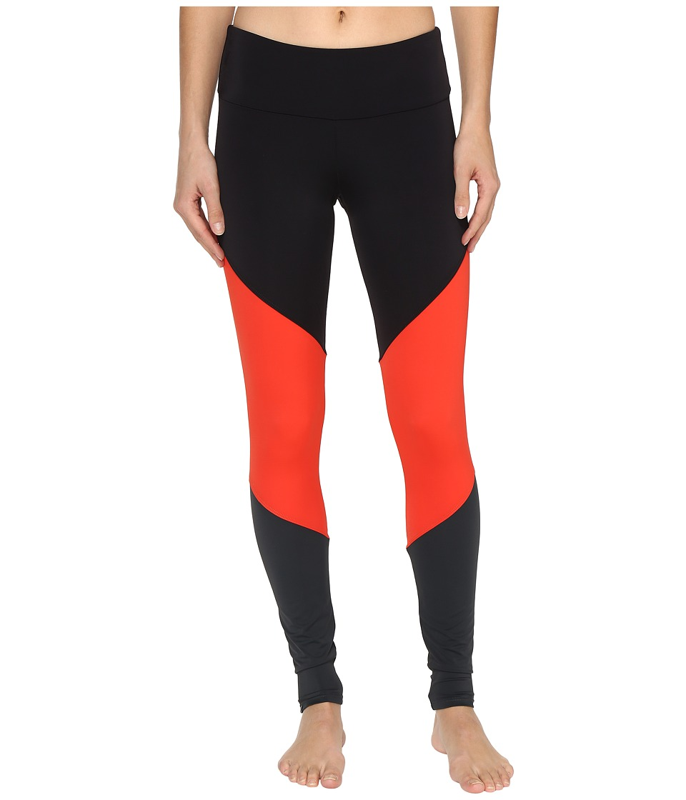 Onzie - Track Leggings (Hot Coral Combo) Women's Casual Pants