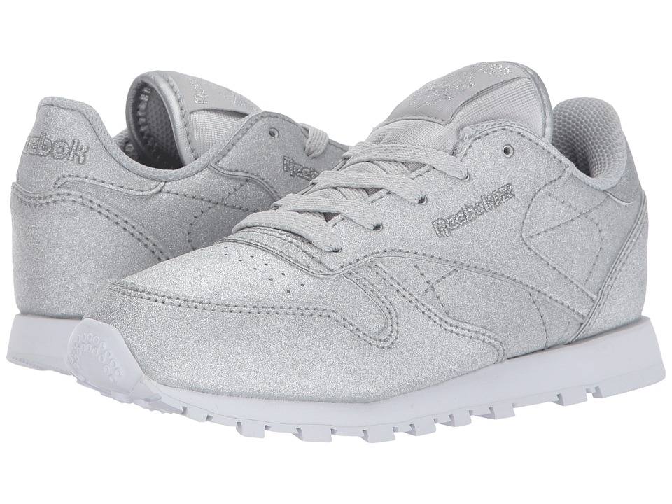 Reebok Kids - Classic Glitter (Little Kid) (Diamond/Silver Metallic/Snow Grey White) Kids Shoes