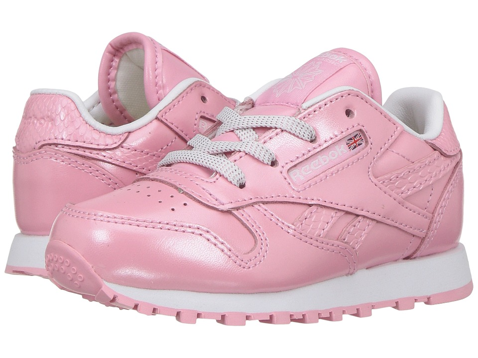 Reebok Kids - Classic Leather Metallic (Toddler) (Light Pink/White) Girls Shoes