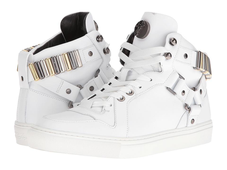 Versace Collection - V900586VM00011 (White/Gunmetal) Men's Shoes