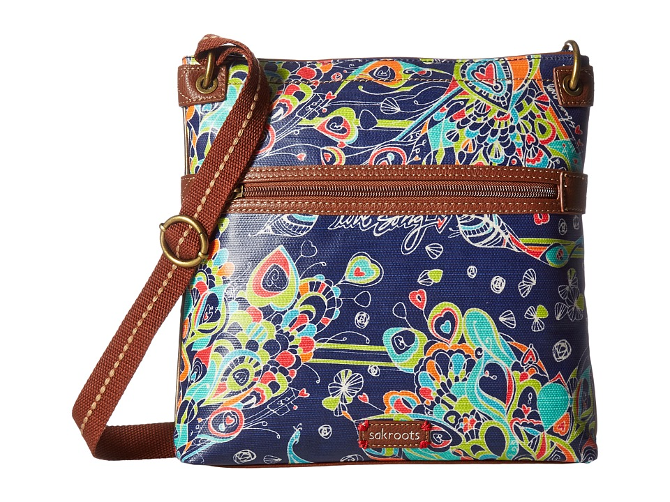Sakroots - Artist Circle Crossbody (Denim Songbird) Cross Body Handbags