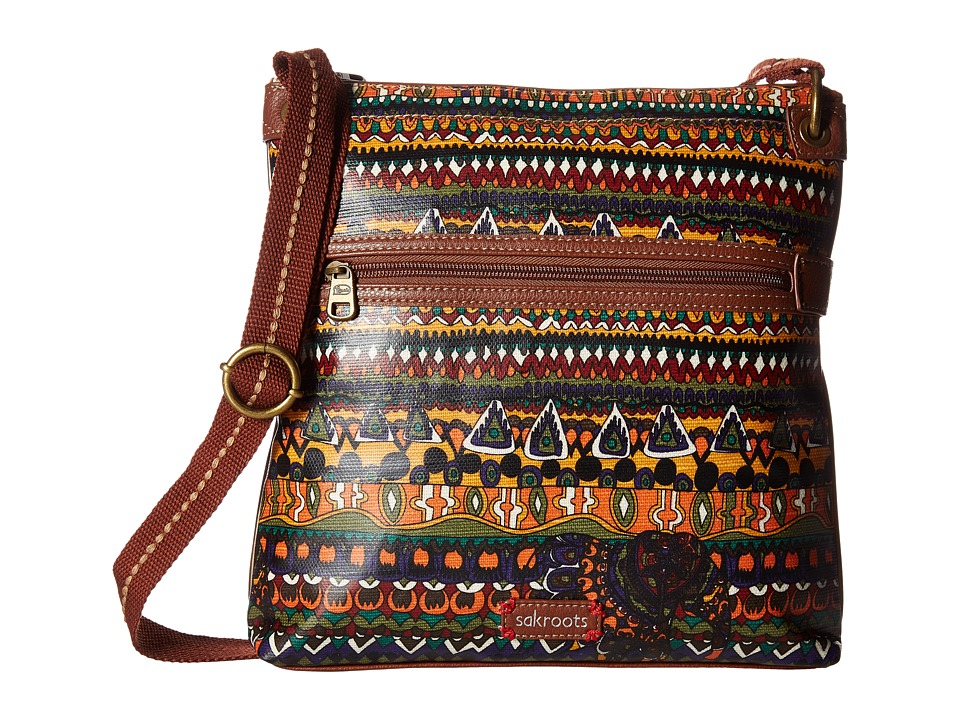 Sakroots - Artist Circle Crossbody (Harvest Owl) Cross Body Handbags