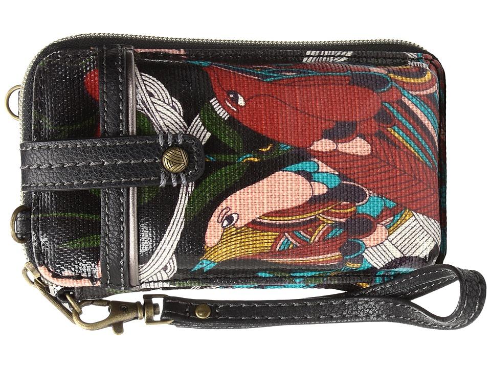 Sakroots - Artist Circle Smartphone Wristlet (Black Peace) Wristlet Handbags