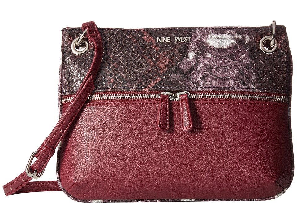 Nine West - Classic Zip Medium Crossbody (Russet/Crimson) Handbags