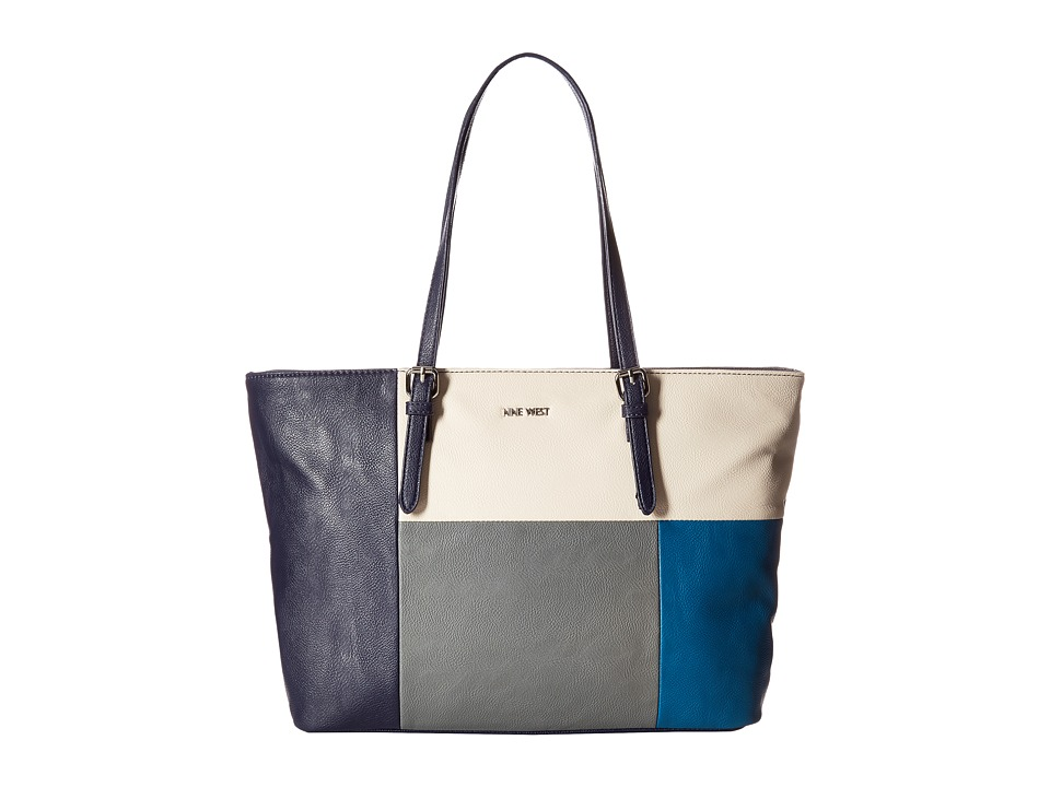 Nine West - Color Coding Tote (Moody Blue/Milk/Heather Grey/Dark Denim) Tote Handbags