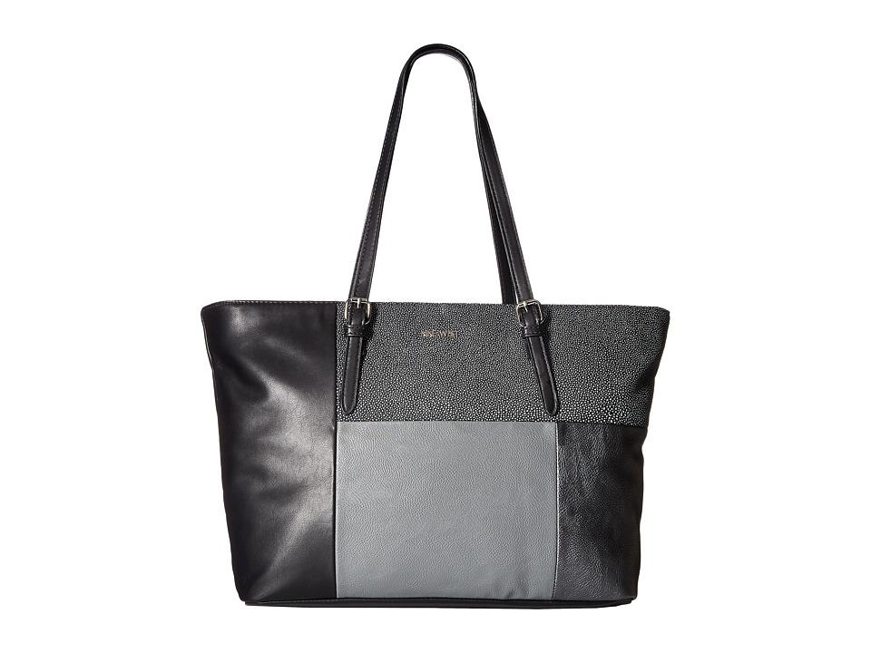 Nine West - Color Coding Large Tote (Black/Black/Hematite/Heather Grey) Handbags