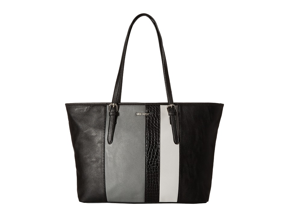 Nine West - Color Coding Large Tote (Black/Heather Grey/Light Cobblestone/Black) Handbags