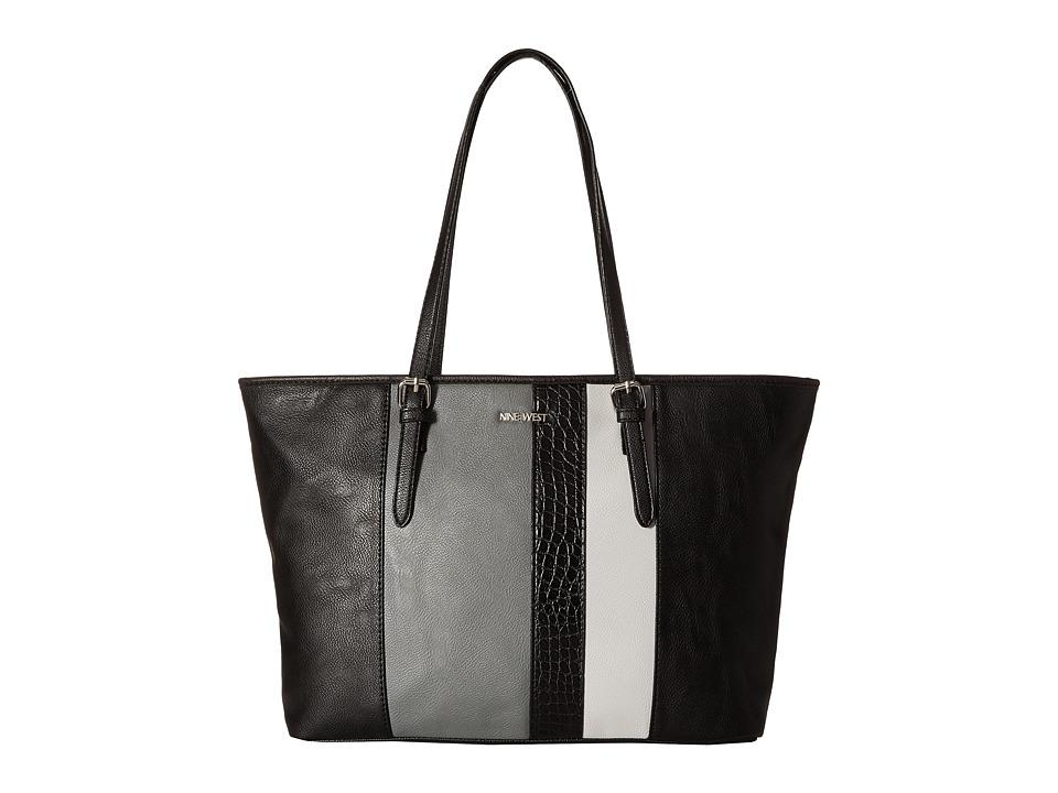 Nine West - Color Coding Large Tote (Black/Heather Grey/Light Cobblestone/Black) Handbags