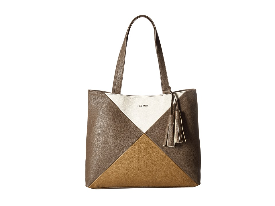 Nine West - Color Fit Medium Tote (Sable/Milk/Tobacco) Handbags