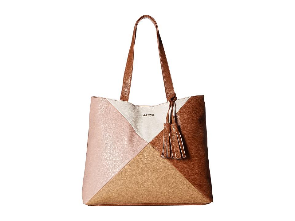 Nine West - Color Fit Medium Tote (New Mauve/Dark Camel) Handbags
