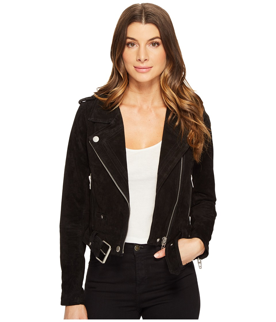 Blank NYC - Black Suede Moto Jacket in Seal The Deal (Seal The Deal) Women's Coat