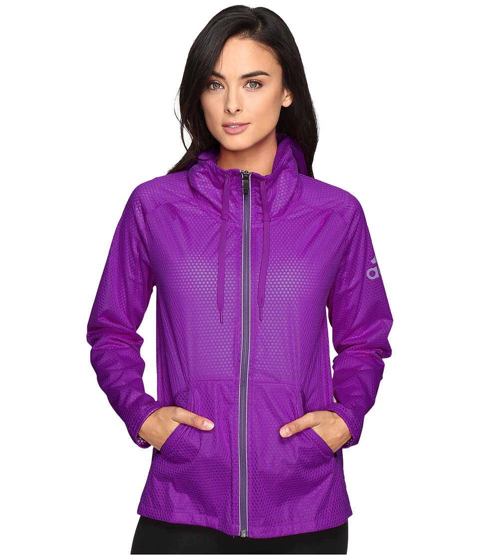 adidas - Climastorm Jacket (Shock Purple) Women's Coat