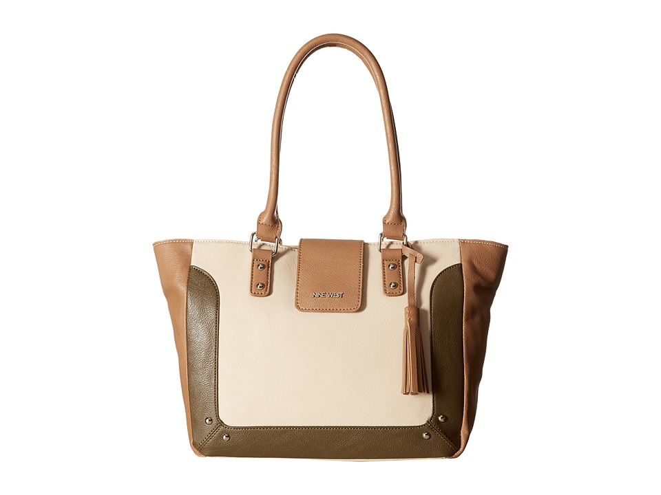 Nine West - In A Tab (Toasted Oat/Dark Wheat/Army Green) Handbags
