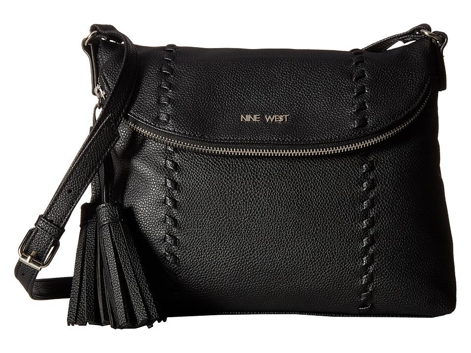 Nine West - In The Weave (Black/Black) Handbags