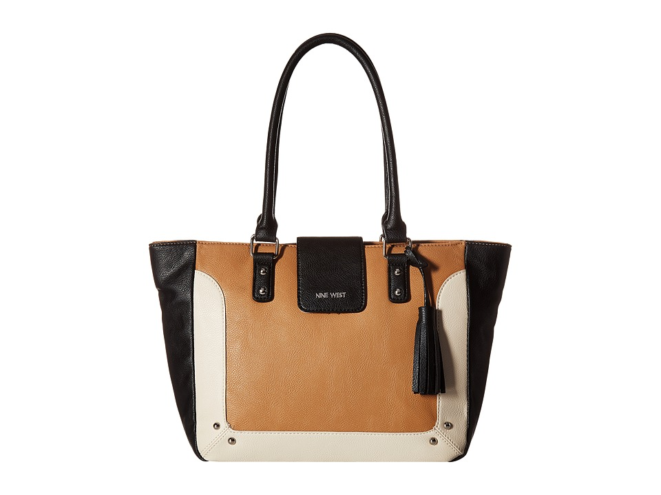 Nine West - In A Tab (Dark Camel/Black/Milk) Handbags