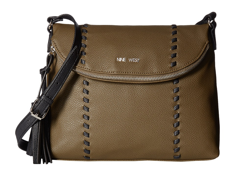 Nine West - In The Weave (Army Green/Black) Handbags