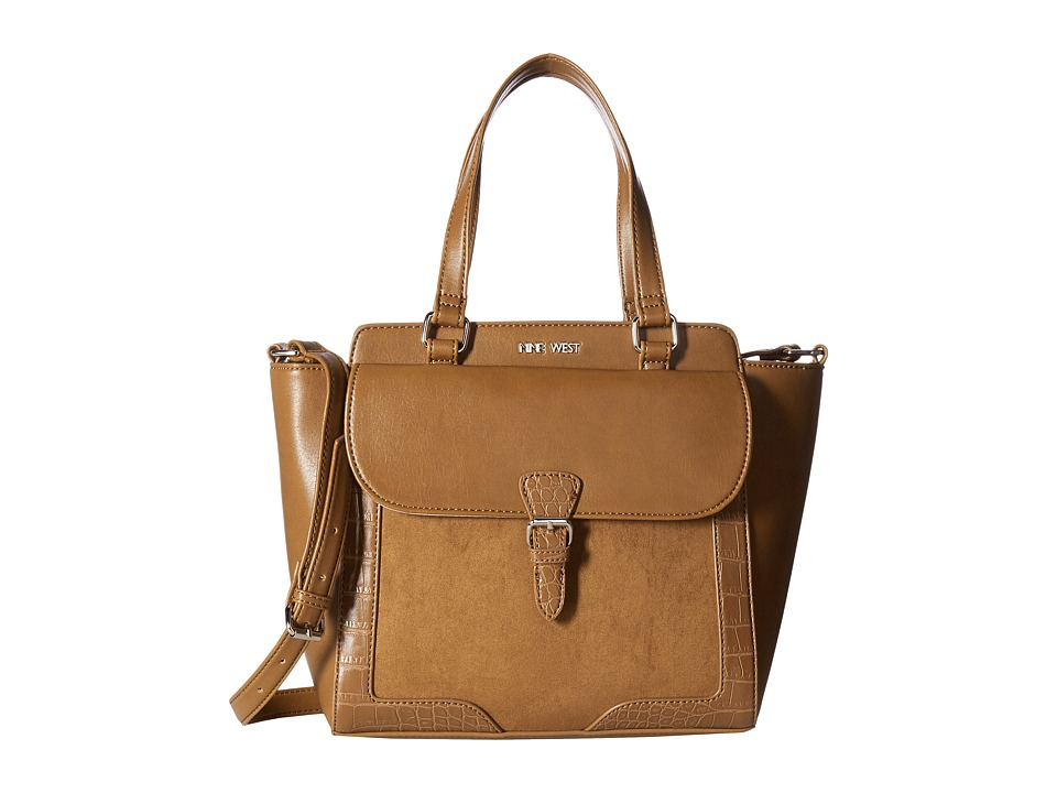 Nine West - Trendy Flap Satchel (Tobacco/Tobacco/Tobacco) Handbags