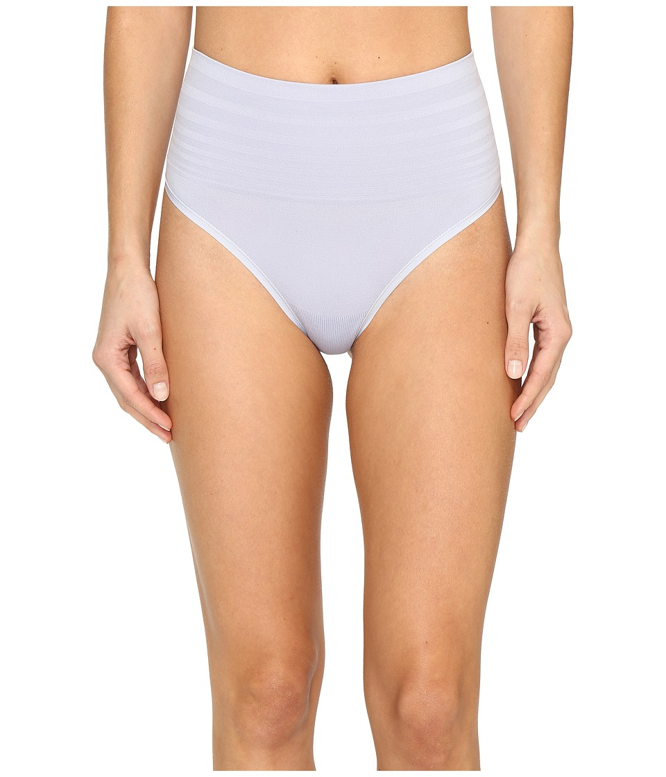 Yummie by Heather Thomson - Jasmina Shaping Thong (Icelandic Blue Tonal Stripe) Women's Underwear