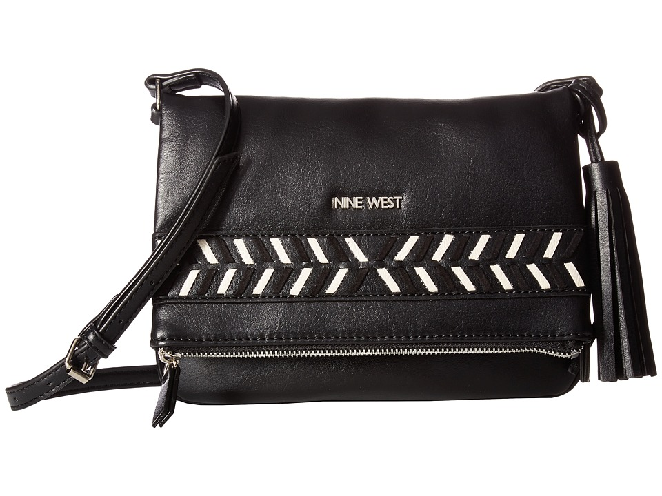 Nine West - Pattern Weave (Black/Black/Milk) Handbags