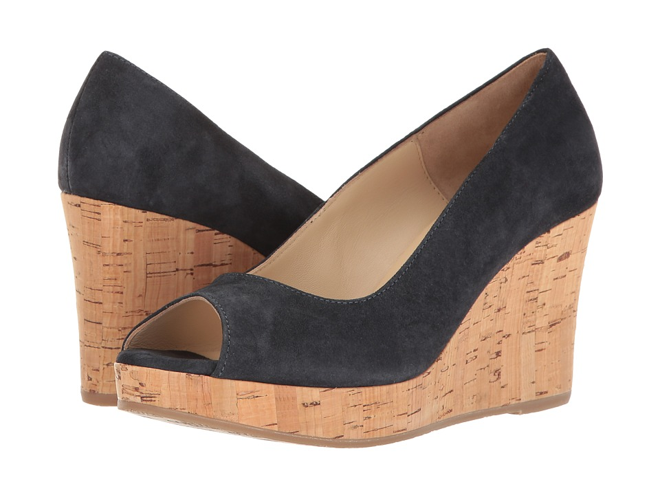 Cordani - Rayner (Navy Suede) Women's Wedge Shoes