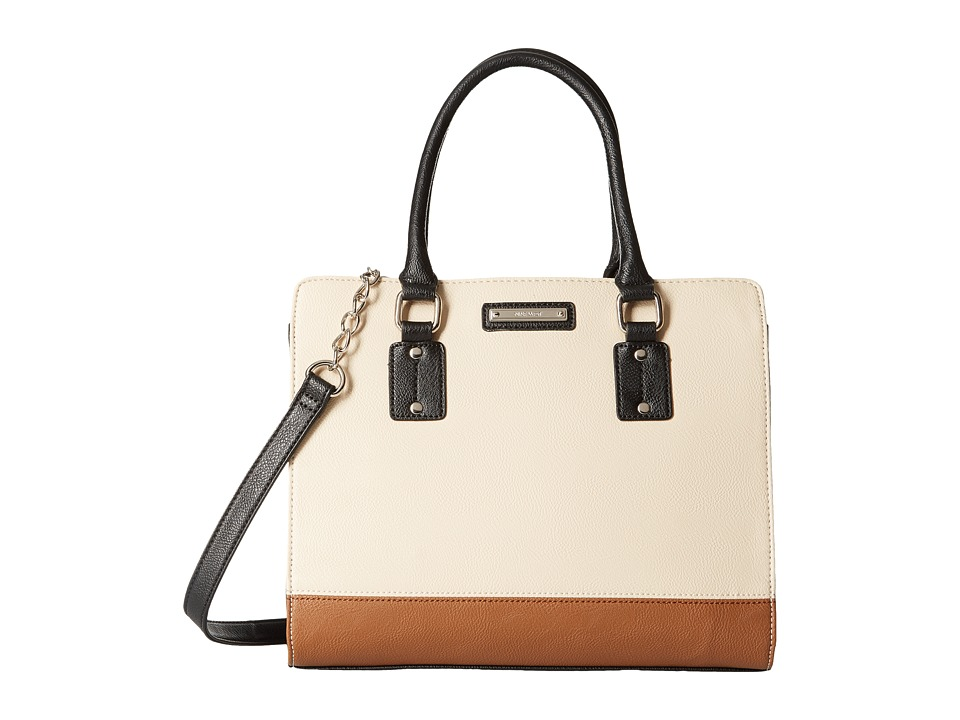 Nine West - You and Me Satchel (Toasted Oat/Black) Satchel Handbags